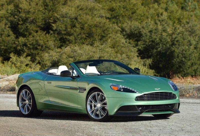 Aston Martin Vanquish Volante In Envious Green Luxuryvolt Com