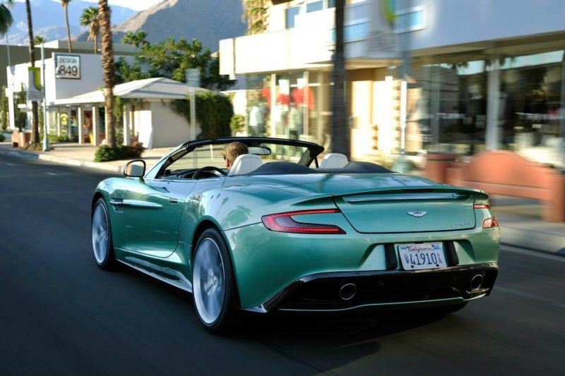 Aston Martin Vanquish Volante In Envious Green