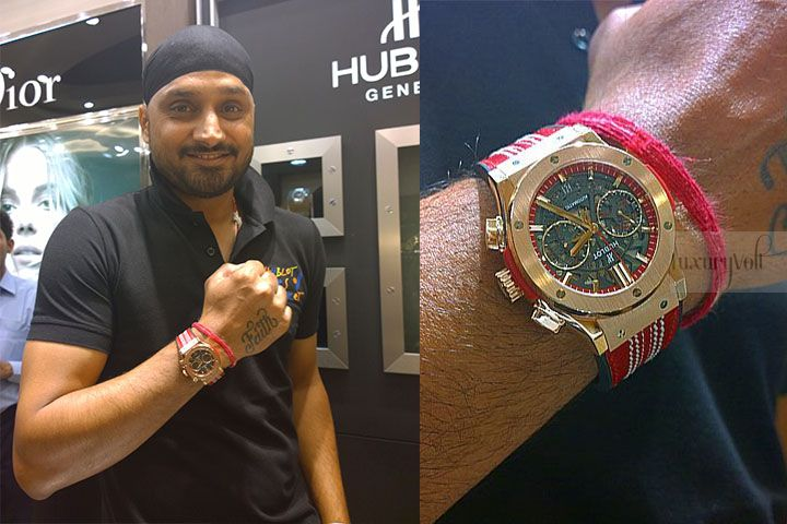 harbhajan hublot watch gold 2015 cricket watch