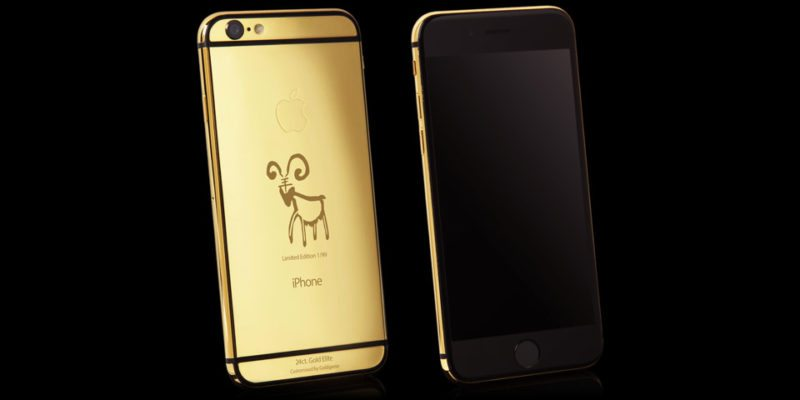 goat new year real gold iphone 6