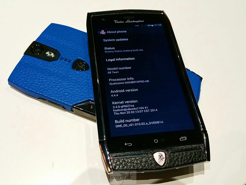 Lamborghini phone luxury phone hands on 2015 price pics-4