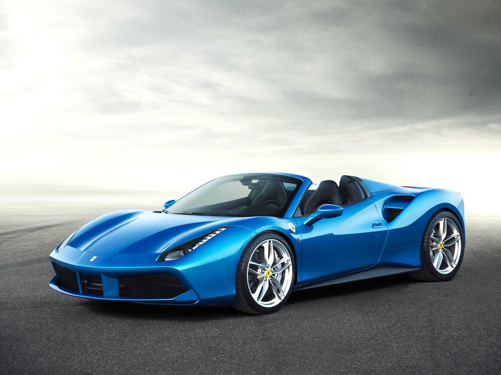 ferrari 488 spider in electric blue an affordable price. Black Bedroom Furniture Sets. Home Design Ideas