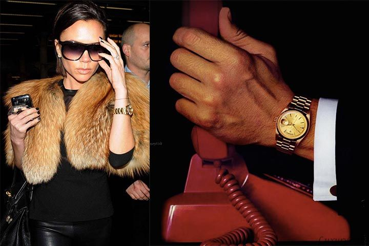 Celebrity watches victoria beckham 39 s rolex watch collection for Celebrity wearing rolex watches