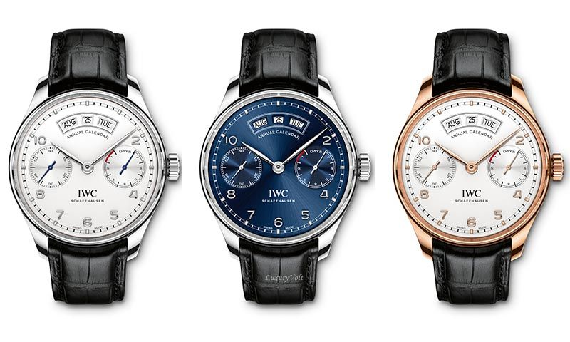 IWC date watch annual calendar price