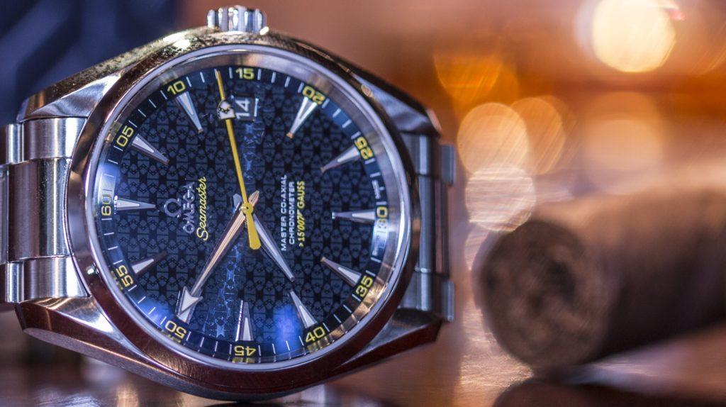 bbed26e1438 Wrist On Review  Omega James Bond Blue Watch Aqua Terra 150 ...