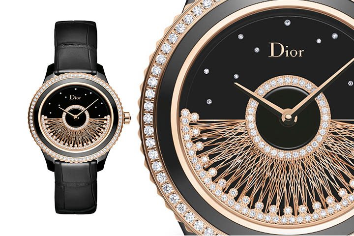 dior gold and black watch price