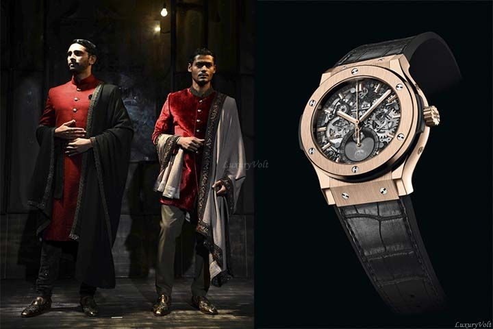 Sabya-mens-groom-golden-hublot-different-watch
