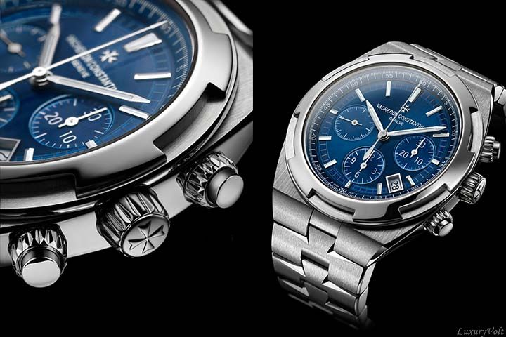 Vacheron overseas blue dial steel watch sihh 2016