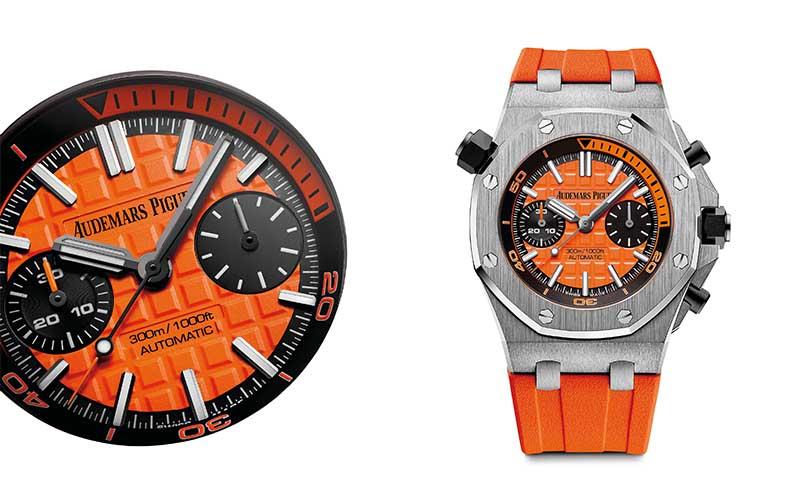 orange offshore royal oak watch ap price