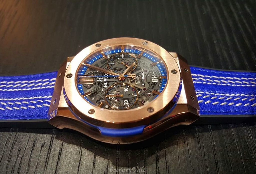 Hublot Blue cricket world cup watch virat kohli