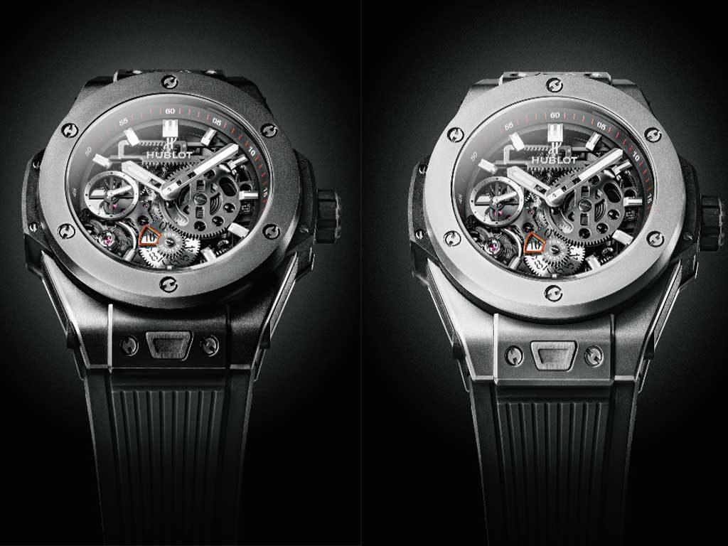 hublot meca10 price transparent watch black