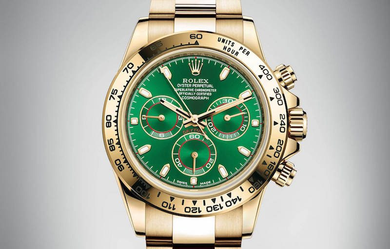 rolex daytona 2016 price yellow gold green dial india luxury blog
