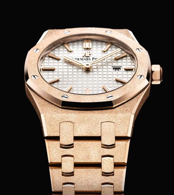 Audemars Piguet Frosted Gold watch sihh 2017 white dial