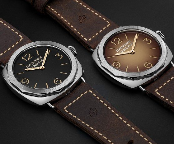 double border brown dial thin panerai watch