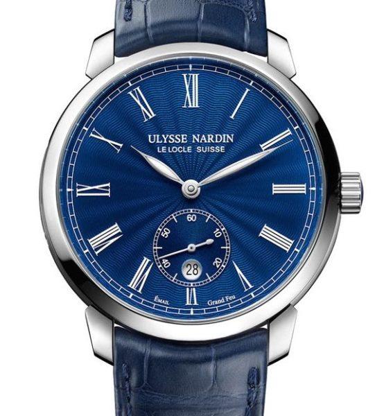 Ulysse Nardin Blue Dial round watch 2017 sihh