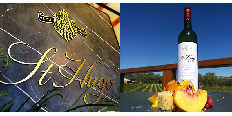 An 8 course decadent wine meets food menu in a restaurant with the sprawling views of the vineyards. St Hugo luxury wines by Pernod Ricard