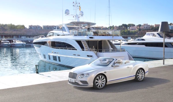 new bentley convertible yacht car