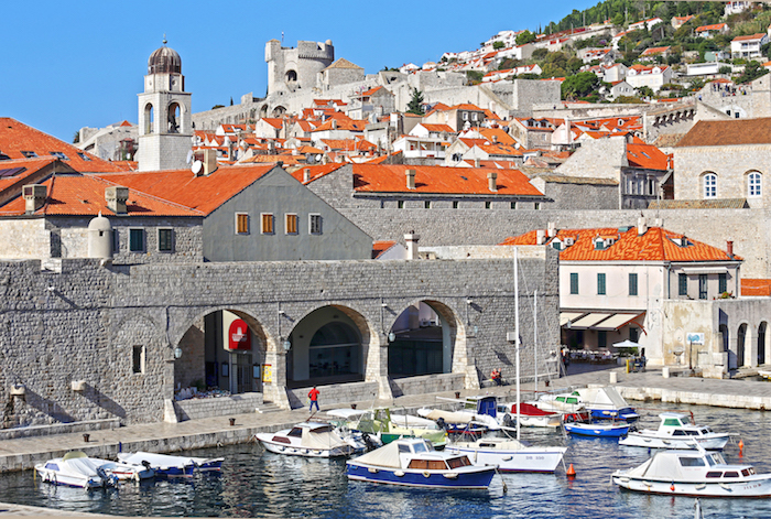 The King's Landing is Old Town Walls of Dubrovnik in Croatia