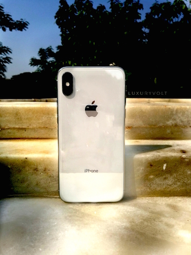 The iPhone 10 can be bought in two classic shades; silver and space grey