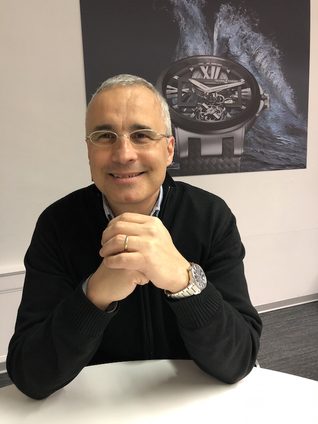 Jean-Christophe Sabatier, Marketing product director, Ulysse Nardin