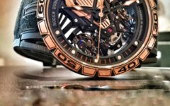 Skeletonized Excalibur Spider case on the dashing Roger Dubuis Lambo watch launched at SIHH 2018