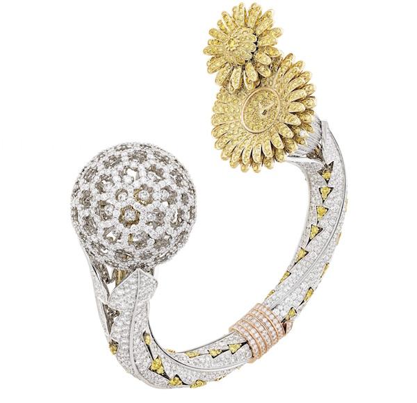 The Yellow flower Van Cleef Arpels Watch, Dandelion Secret watch