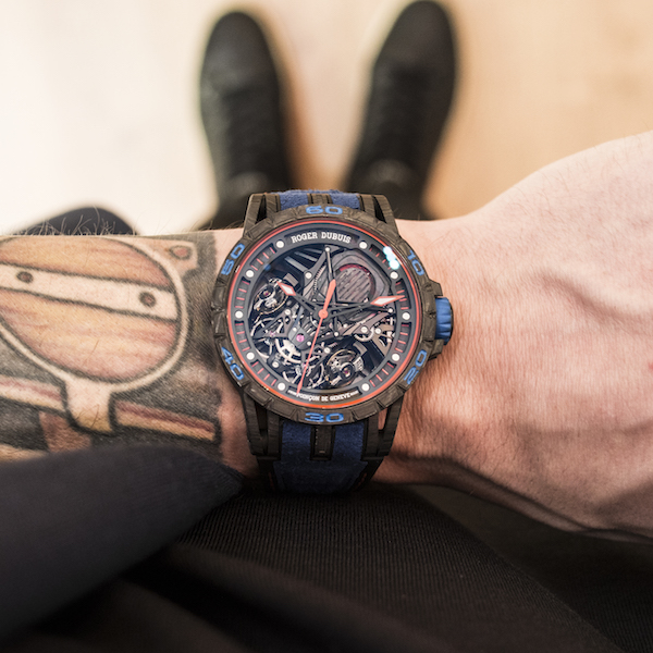 Excalibur Aventador S: Blue dial and strap watch from Roger Dubuis is limited to 88 pieces.